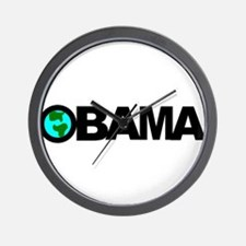 Obama save the planet Wall Clock