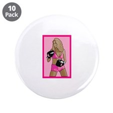 """Pink Womens Boxing Logo 3.5"""" Button (10 pack)"""