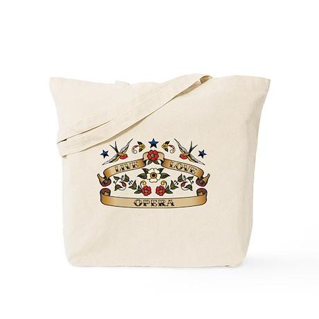 Live Love Opera Tote Bag