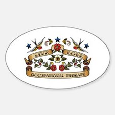 Live Love Occupational Therapy Oval Decal