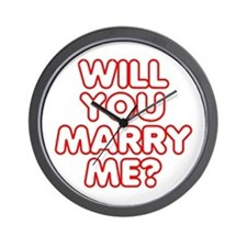 Retro Will You Marry Me? Wall Clock