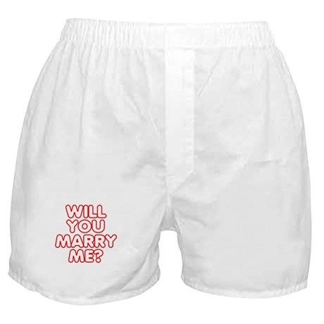 Retro Will You Marry Me? Boxer Shorts