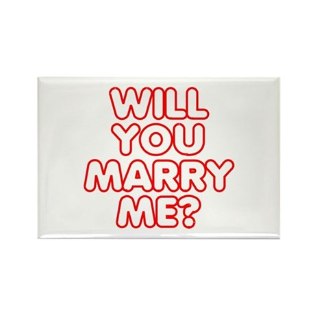 Retro Will You Marry Me? Rectangle Magnet
