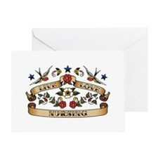 Live Love Nursing Greeting Card