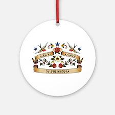 Live Love Nursing Ornament (Round)