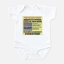 34 birthday Infant Bodysuit