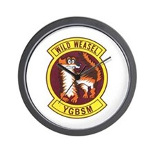 Wild Weasel Wall Clock