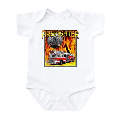 LADDER TRUCK Infant Bodysuit