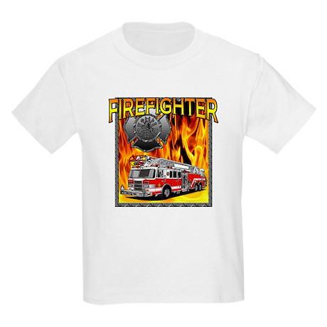 LADDER TRUCK Kids Light T-Shirt