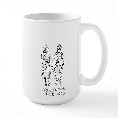 Two Brides Large Mug