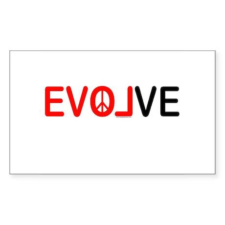 Evolve Rectangle Sticker