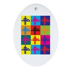 Massage Pop Art Oval Ornament