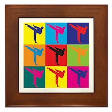 Martial Arts Pop Art Framed Tile