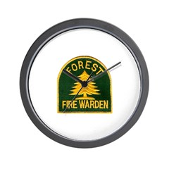 Fire Warden Wall Clock