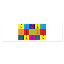 Mandolin Pop Art Bumper Bumper Sticker