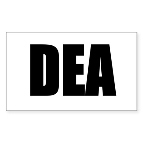 DEA Rectangle Sticker