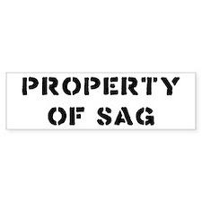 Property of SAG Bumper Bumper Sticker
