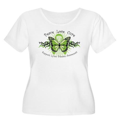Lyme Disease Butterfly Women's Plus Size Scoop Nec