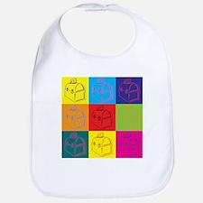 Lunchboxes Pop Art Bib