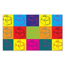 Lunchboxes Pop Art Rectangle Decal