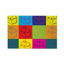 Lunchboxes Pop Art Rectangle Magnet