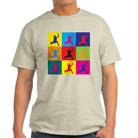 Long Jumping Pop Art Light T-Shirt