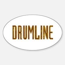 Drumline Brown Oval Decal