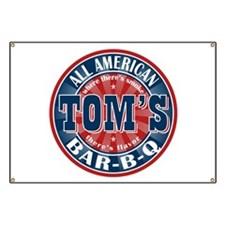 Tom's All American BBQ Banner