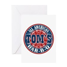 Tom's All American BBQ Greeting Card