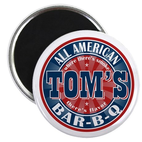 """Tom's All American BBQ 2.25"""" Magnet (100 pack)"""