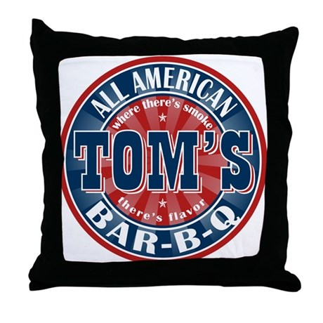 Tom's All American BBQ Throw Pillow