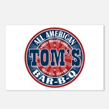 Tom's All American BBQ Postcards (Package of 8)