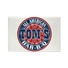 Tom's All American BBQ Rectangle Magnet (100 pack)