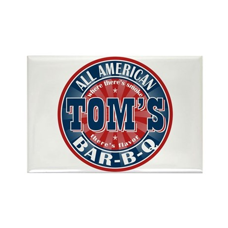 Tom's All American BBQ Rectangle Magnet (10 pack)