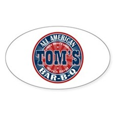 Tom's All American BBQ Oval Decal