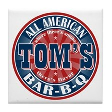 Tom's All American BBQ Tile Coaster