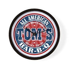 Tom's All American BBQ Wall Clock