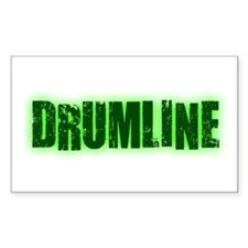 Drumline Green Rectangle Decal