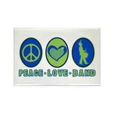 PEACE - LOVE - BAND Rectangle Magnet