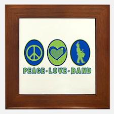 PEACE - LOVE - BAND Framed Tile