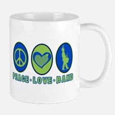 PEACE - LOVE - BAND Mug