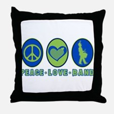 PEACE - LOVE - BAND Throw Pillow