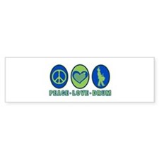 PEACE - LOVE - DRUM Bumper Bumper Sticker