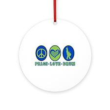 PEACE - LOVE - DRUM Ornament (Round)