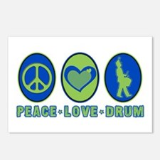 PEACE - LOVE - DRUM Postcards (Package of 8)