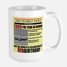 8 birthday Large Mug