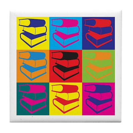 Library Work Pop Art Tile Coaster