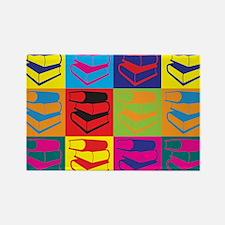 Library Work Pop Art Rectangle Magnet