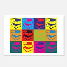 Library Work Pop Art Postcards (Package of 8)