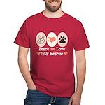 Peace Love GSP Rescue Dark T-Shirt